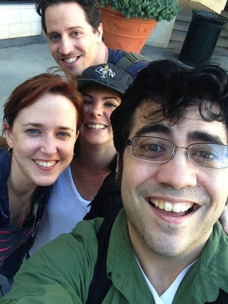 Joke and Biagio with Andrew Mayne and Mary Jaras. Season 1 wrap day!