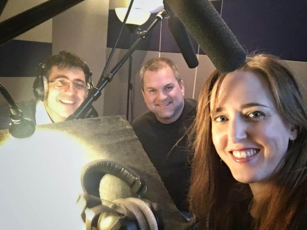 Joke and Biagio with Todd Lindsey, recording a companion podcast to the CNN/HLN TV series Unmasking a Killer. Pitched to Joke Productions by Todd.